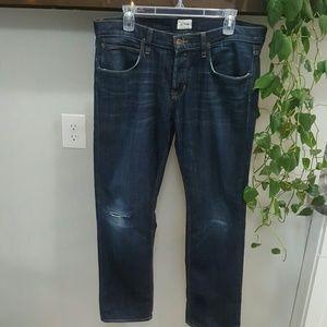 Hudson Darkwash Distressed Skinny Jeans
